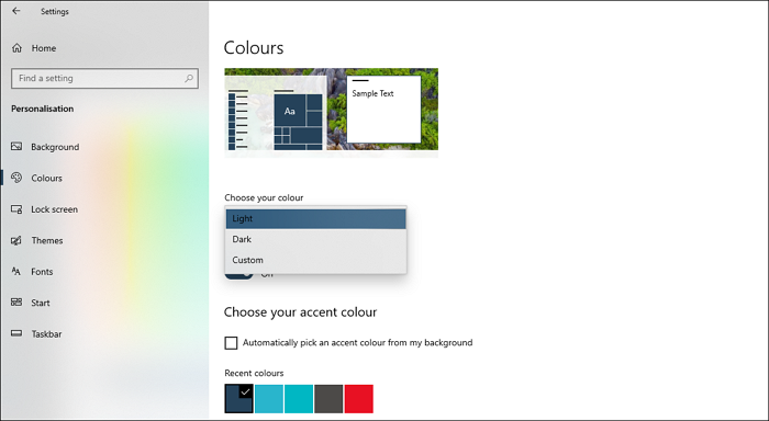 Dark Theme Windows 10