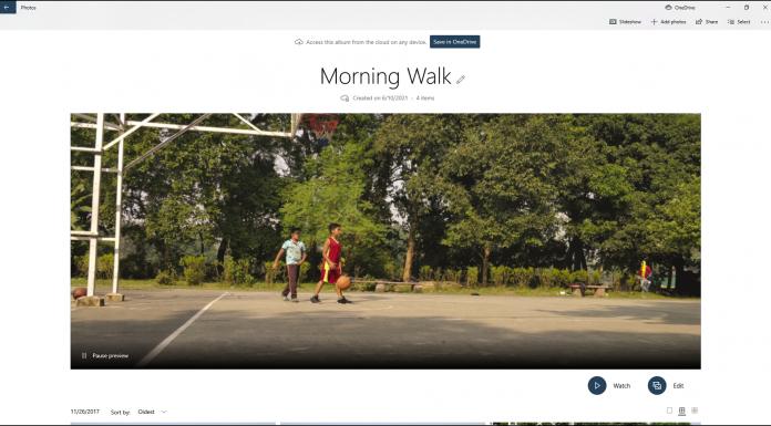 OneDrive Photos App Album