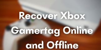 Recover Xbox Gamertag Online and Offline