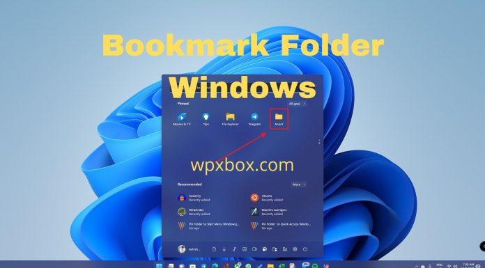 Bookmark Folder Windows