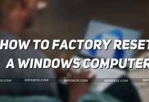How to factory reset a windows computer