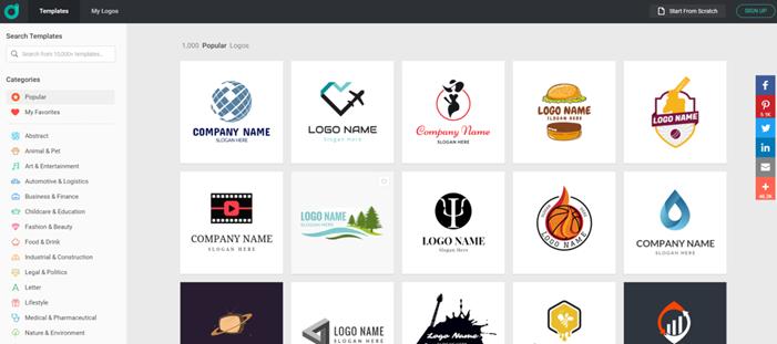 DesignEvo Make Logo Online Catgeory