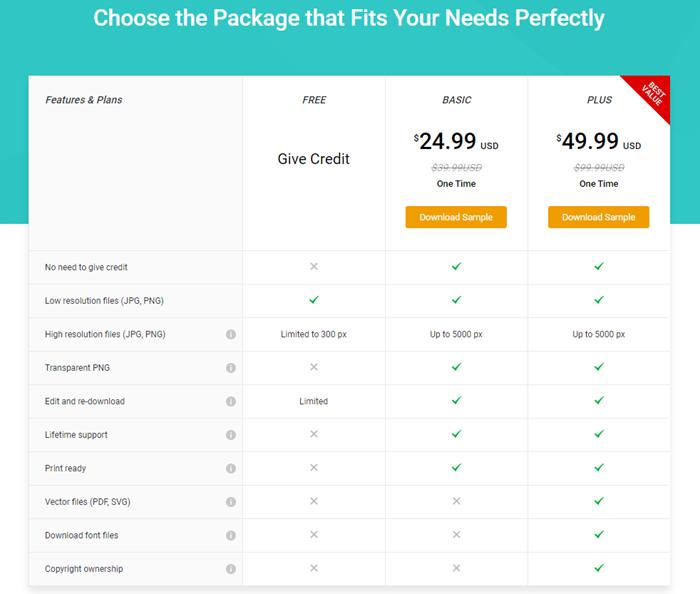 DesignEvo Make Logo Online Plans and Pricing