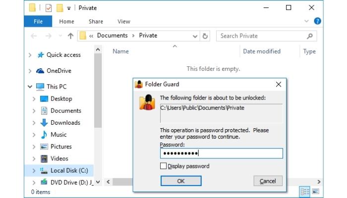 Folder Guard Windows
