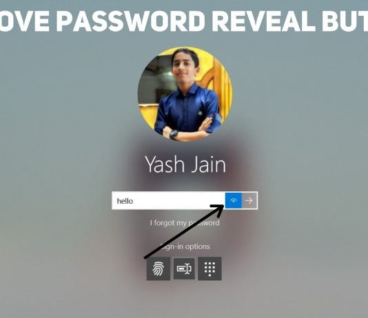 Remove Password Reveal Button