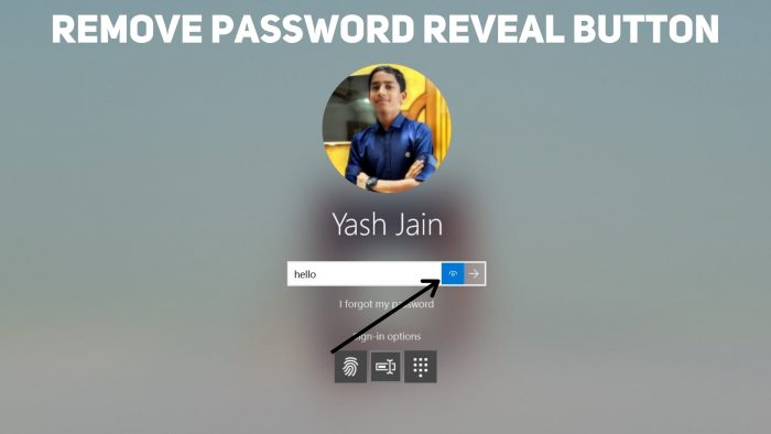 How to Remove the Password Reveal button on the Sign-in screen on Windows 10