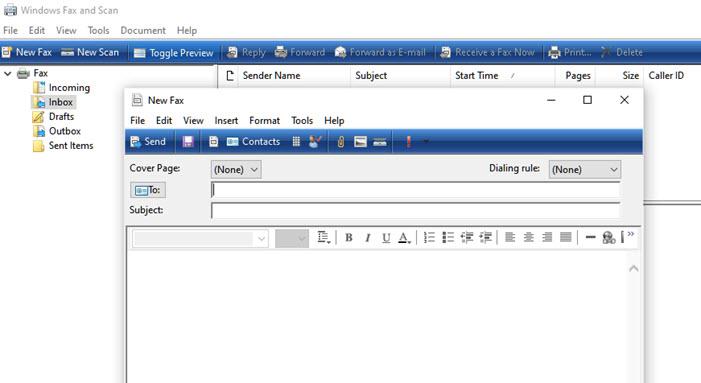 Send Fax Windows New Fax