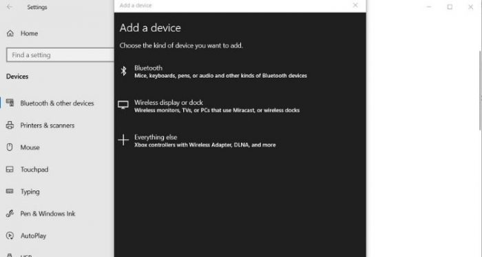 Add New Bluetooth Device