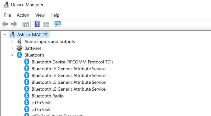 Check Bluetooth Device Windows