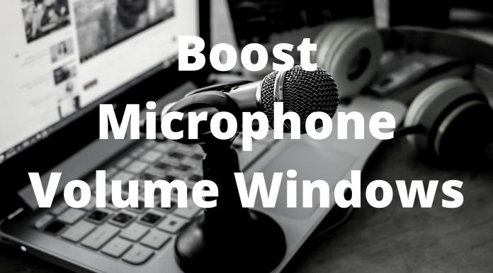 Boost Microphone Volume Windows