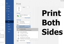 Microsoft Edge can't find Print on both sides when printing PDF or any other document