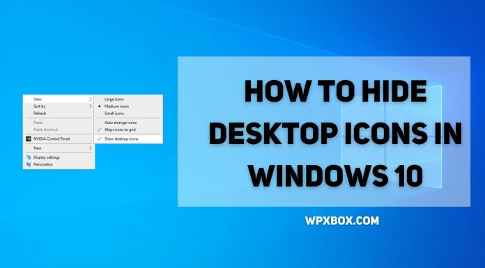 How to Hide Desktop Icons in Windows 10 [Easy Methods]