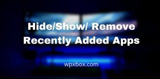 Hide/ Show/ Remove Recently Added Apps from Start Menu in Windows 11/10