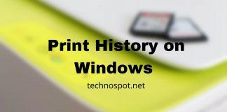 Print History on Windows