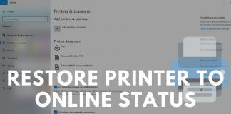 Restore Printer to Online