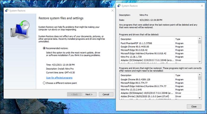Restore Windows 10 PC