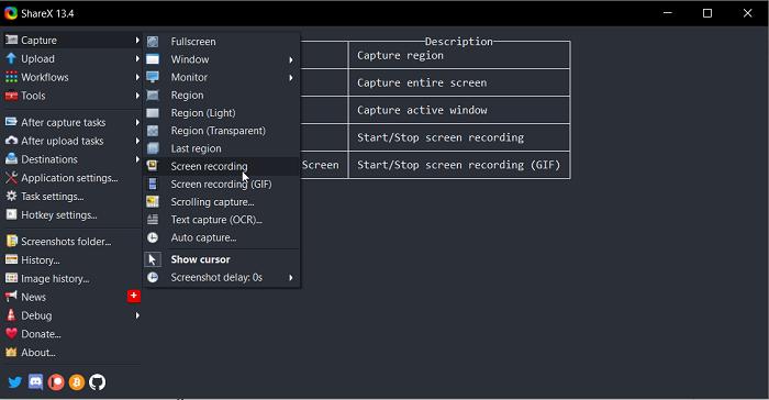ShareX Windows Steps Recorder