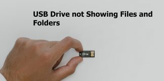 USB Drive Now Showing Files