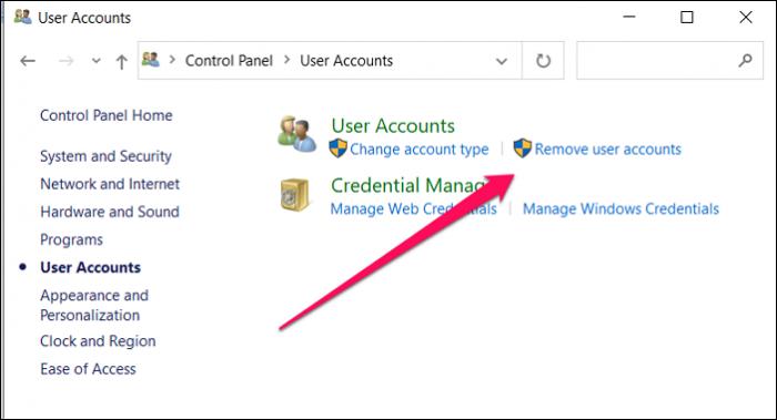 remove user accounts