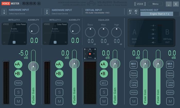 Use VOICEMEETER Virtual Audio Mixer