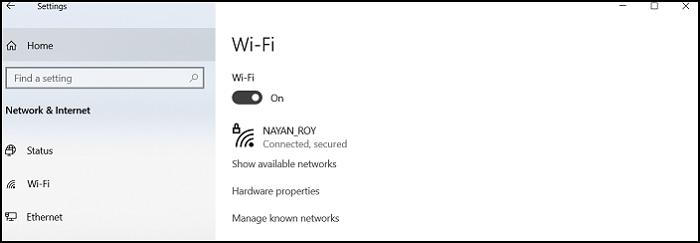 Windows 10 Settings Wifi Signal Strength