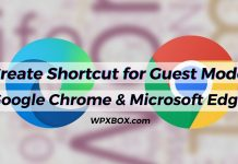Create Shortcut for Guest Mode