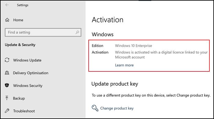 Digital Activation Windows Key