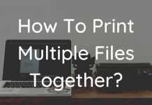 How To Print Multiple Files Together