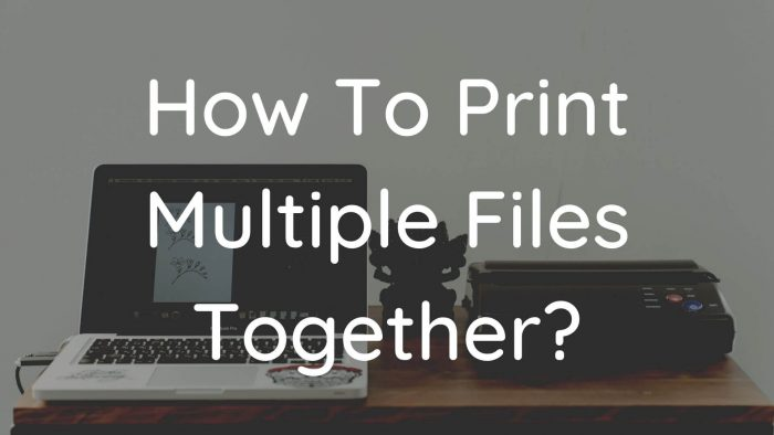 How To Print Multiple Files Together in Windows