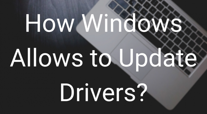 How Windows Allows to Update Drivers