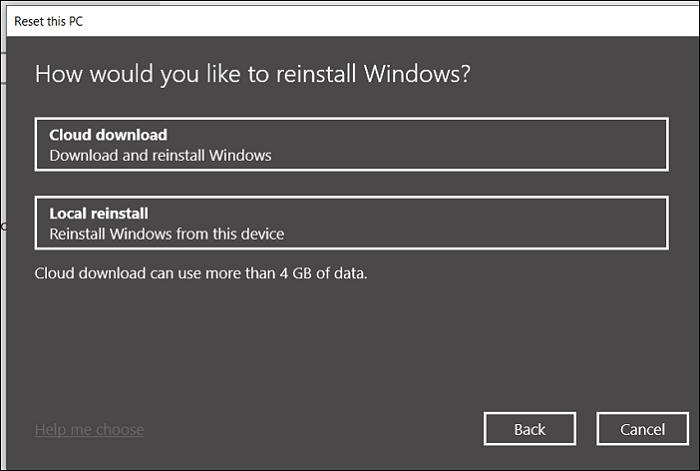 Windows 10 20H1 update cloud installation