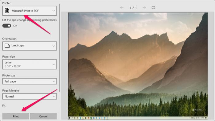 save screenshot to pdf photos app