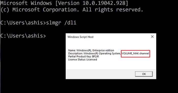 slmgr check Windows key type