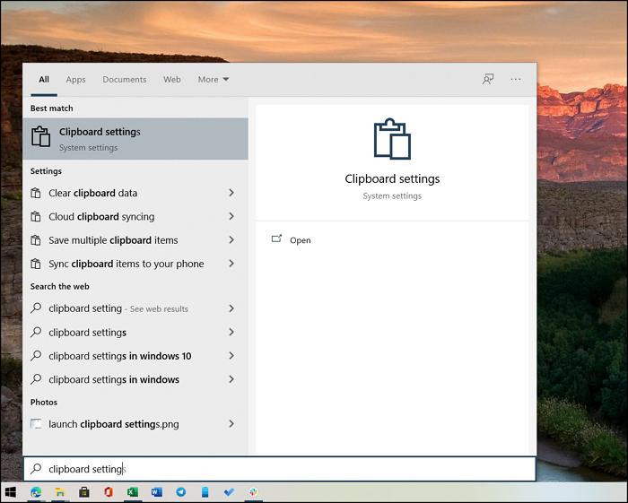 Clipboard Settings Windows 10