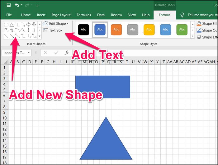 Continue Flowchart Excel