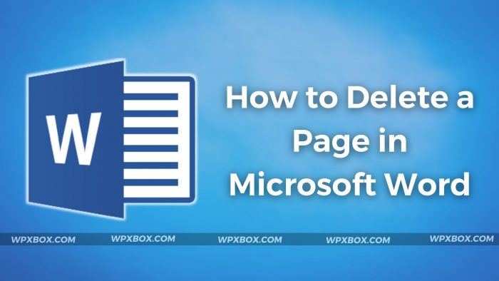 Delete Page Microsoft Word