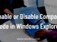 Enable Disable Compact Mode File Explorer