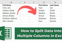 How to Split Data Into Multiple Columns Office Excel