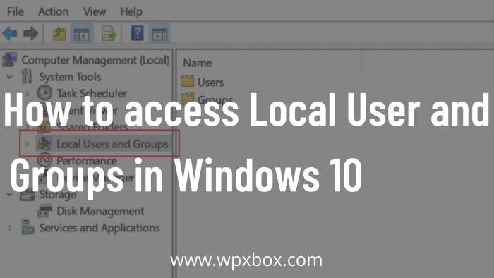 How to access Local User and Groups in Windows 10 Home