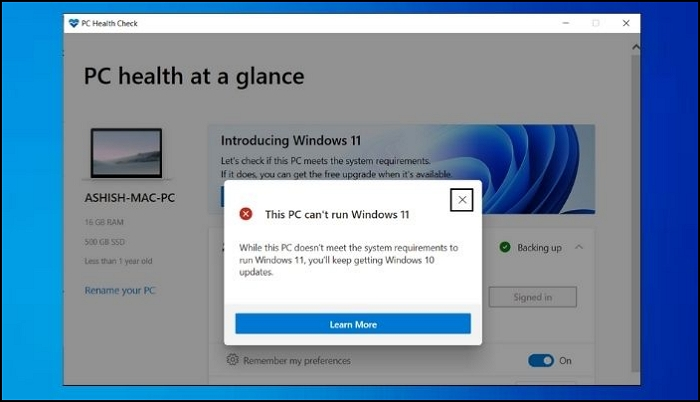 Fix: This PC can't run Windows 11