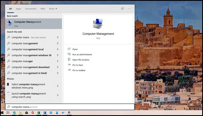 Search Computer Management Windows