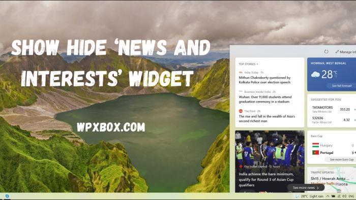 Show Hide News and Interests Widget