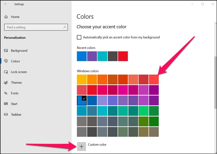 Accent Color Windows 10