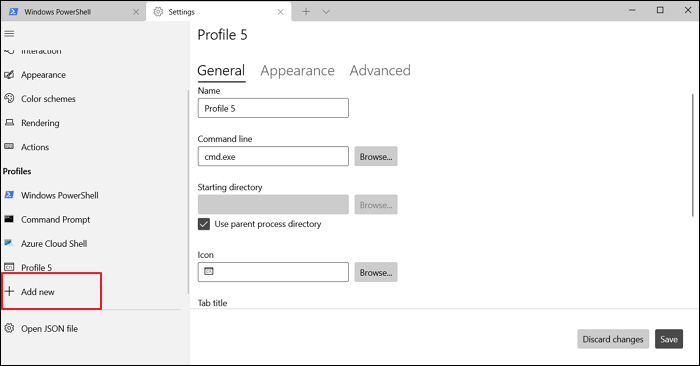 Add Profile Windows Terminal