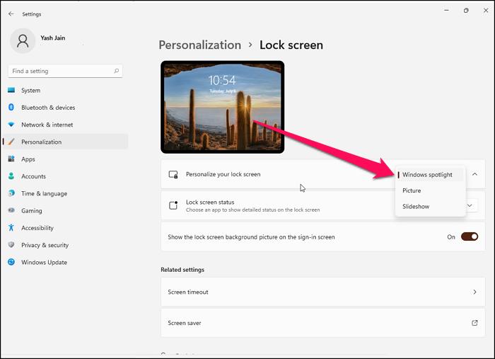 Customize Lock Screen Windows 11