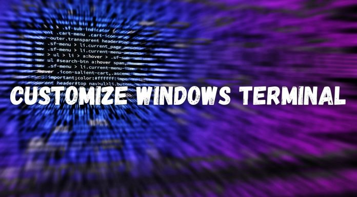 Customize Windows Terminal