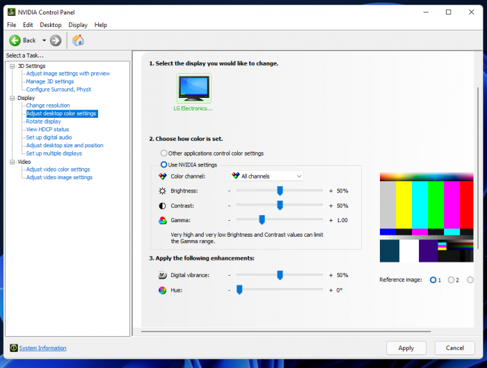 Nvidia Control Panel Brightness