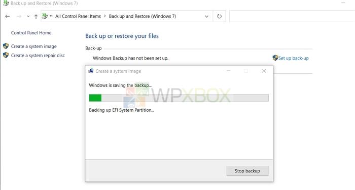 Saving System Image Backup