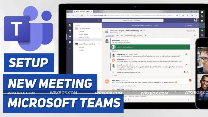 Setup Meeting Microsoft Teams