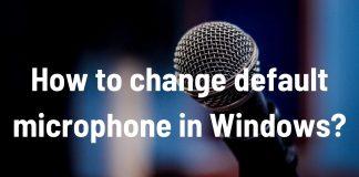 change default microphone windows